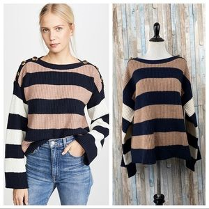 Madewell M Striped Knit Calloway Boatneck Pullover